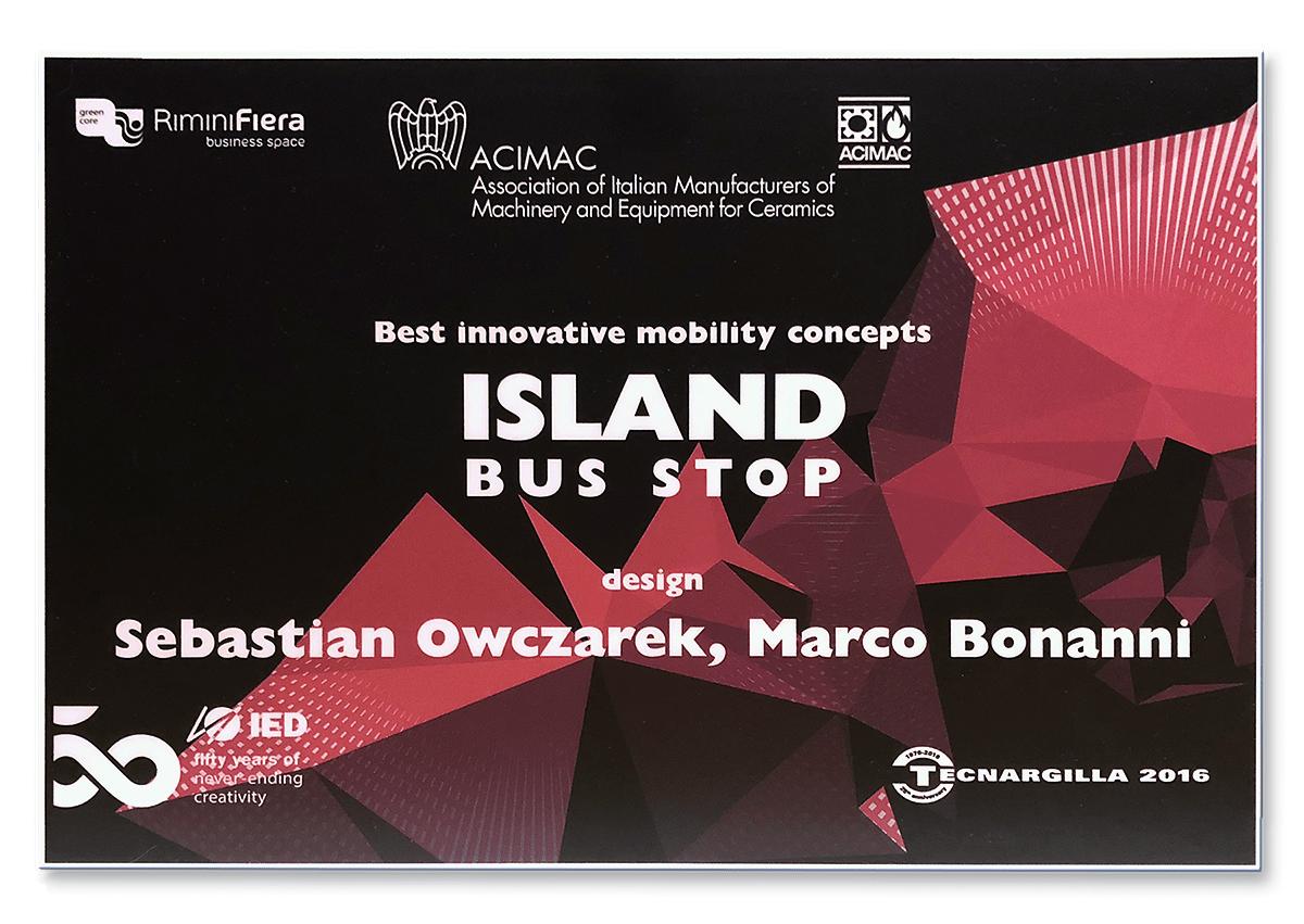 Island Bus Stop-Island_Bus_Tecnargilla_Honor_Mention-Marco-Bonanni